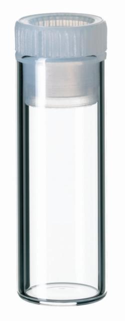 Naczynka z szyjką wygładzoną ogniowo i korkiem z PE, ND8, ND12, ND15, LLG
