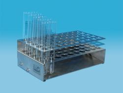 LLG-Reagenzglasständer, selbstausrichtend, Edelstahl