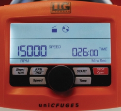 Mini centrifuge LLG-uniCFUGE 5 with timer and digital display