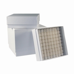 LLG-Cryogenic storage boxes, plastic coated, white