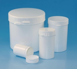 LLG-Sample containers, PS/PP, with tamper-evident cap, LDPE/PP