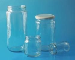 LLG-Wide-Neck jars, glass