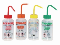 LLG-Safety vented wash bottles, LDPE